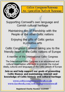 Celtic Congress Cornwall General Poster