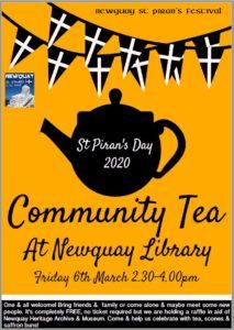 Library Community Tea - St Pirans